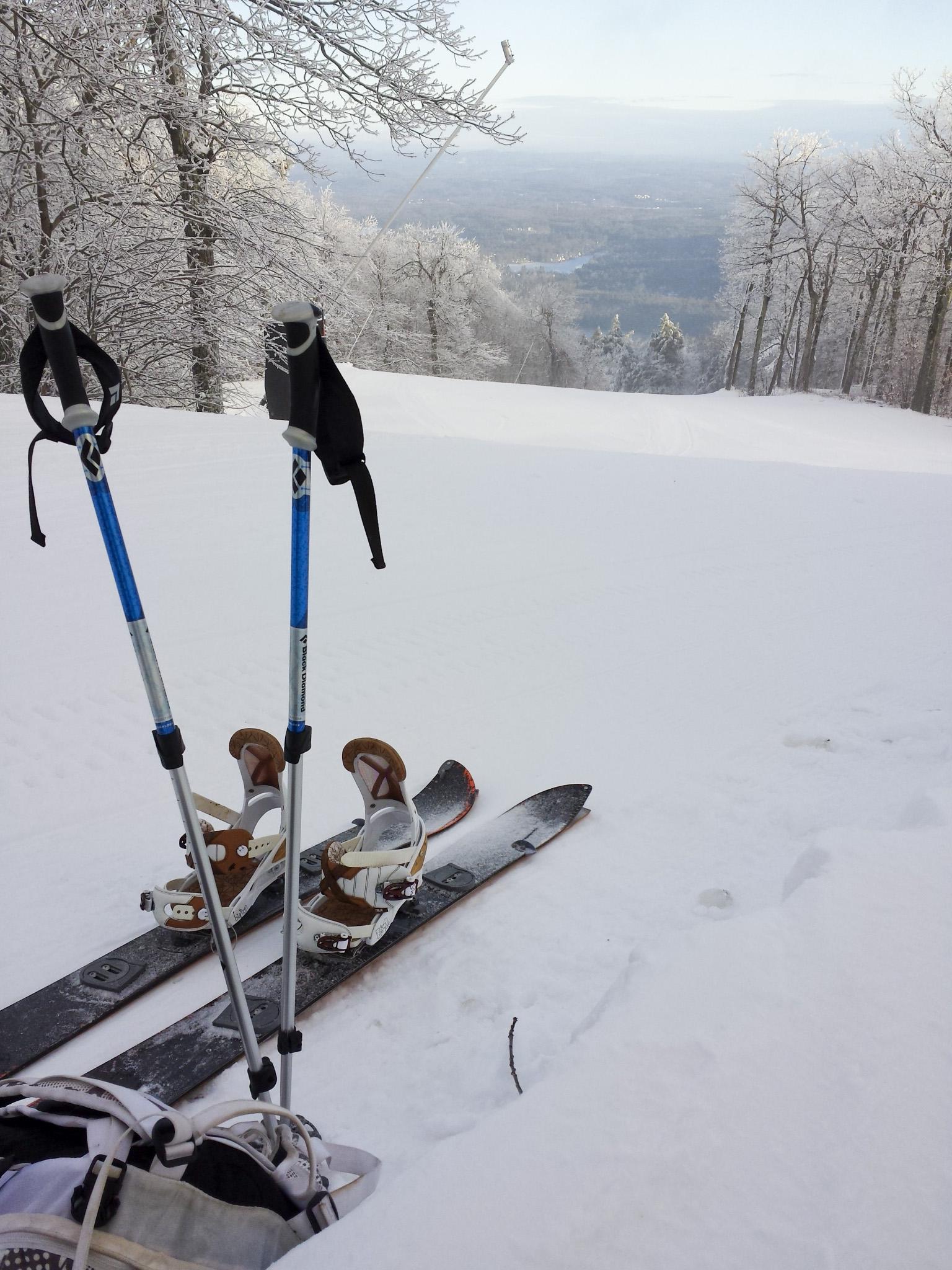 Splitboarding And Hiking Wachusett Mountain