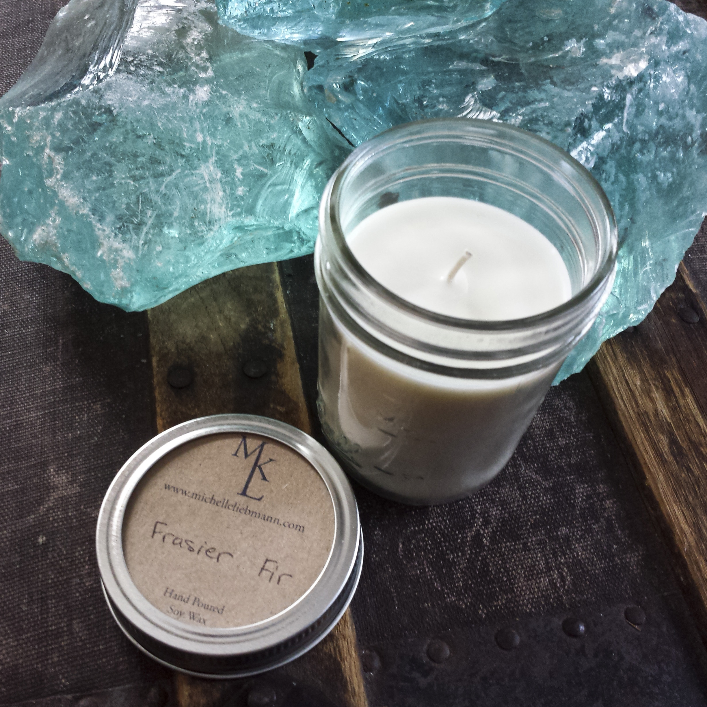 Hand Poured Natural Soy Wax Candle – Frasier Fir – $11