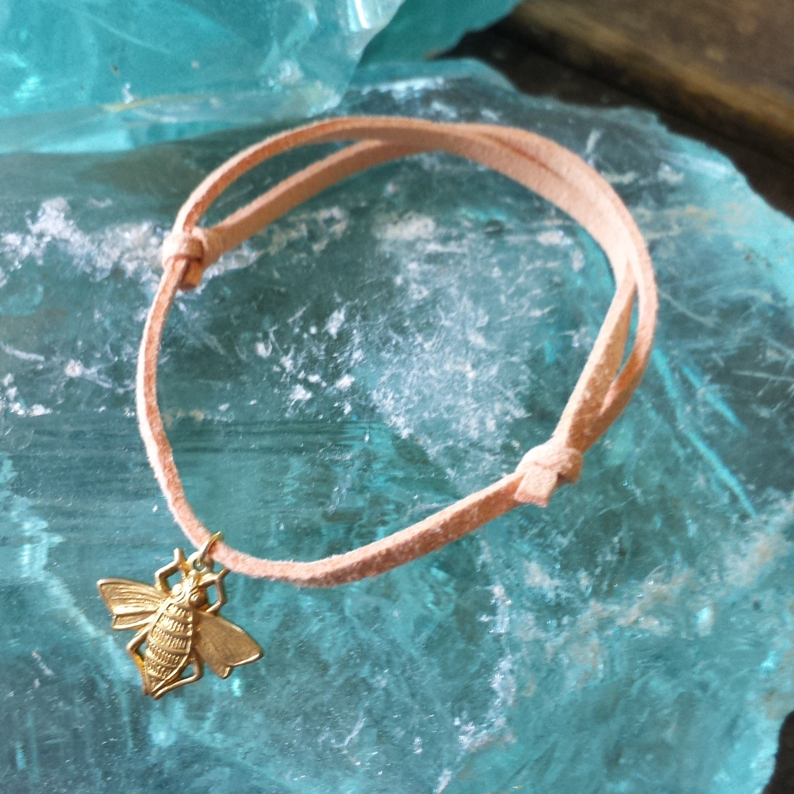 Stacking Bracelet – Brass Bee Charm – $10