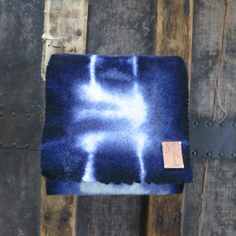 Hand Dyed Wool Scarf – Indigo – $75