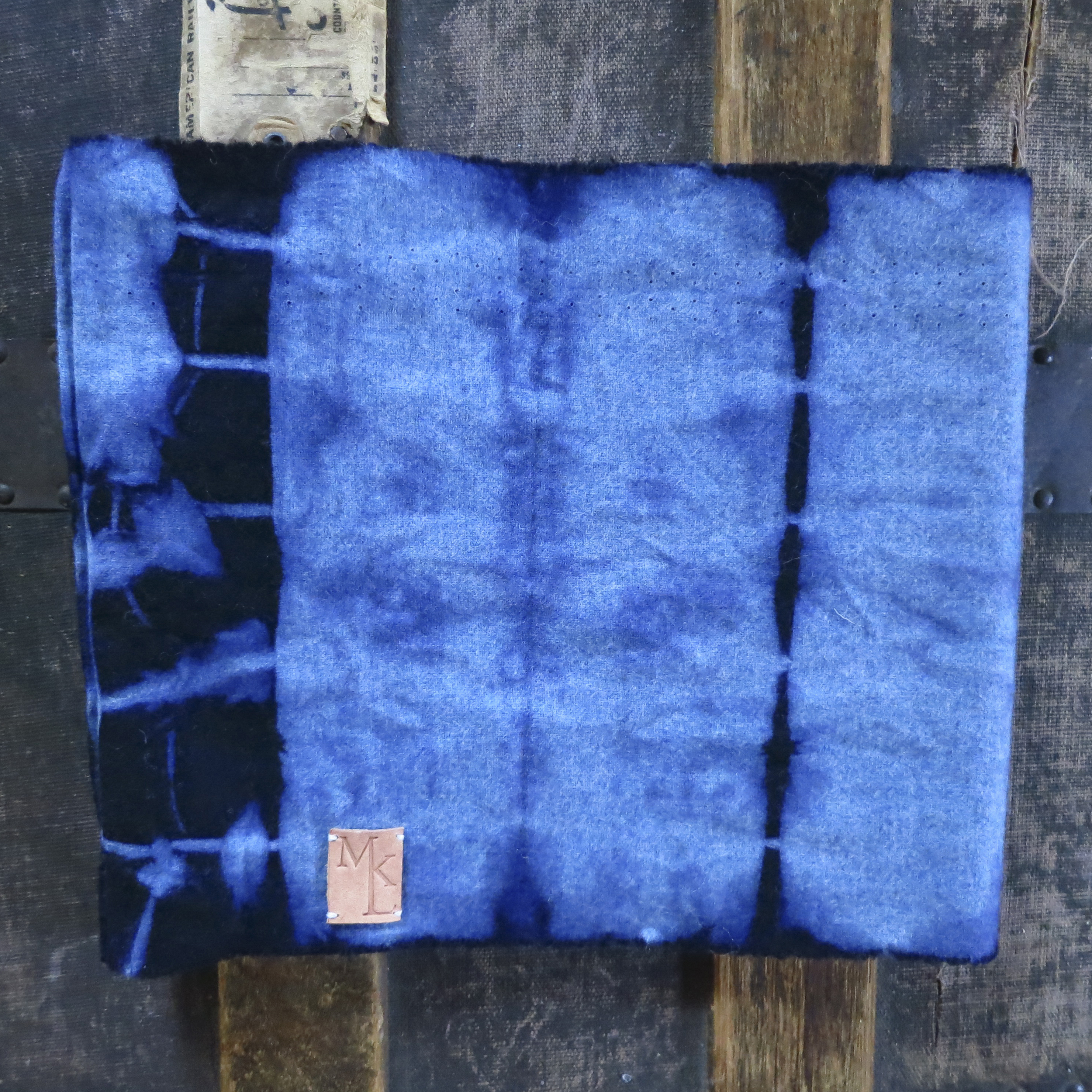 Hand Dyed Wool Flannel Infinity Scarf – Indigo – $55