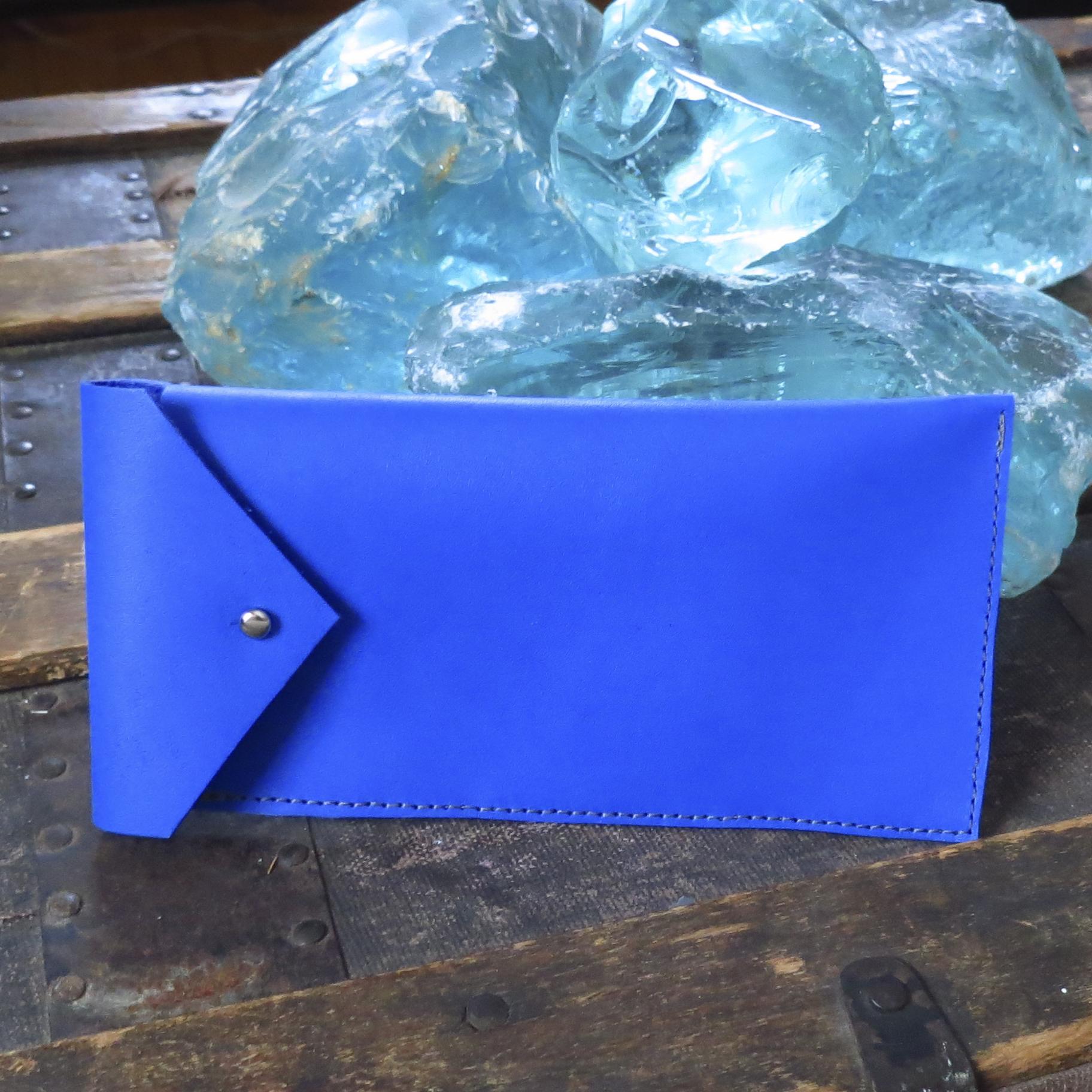 Leather Sunglass Case – Cobalt – $40