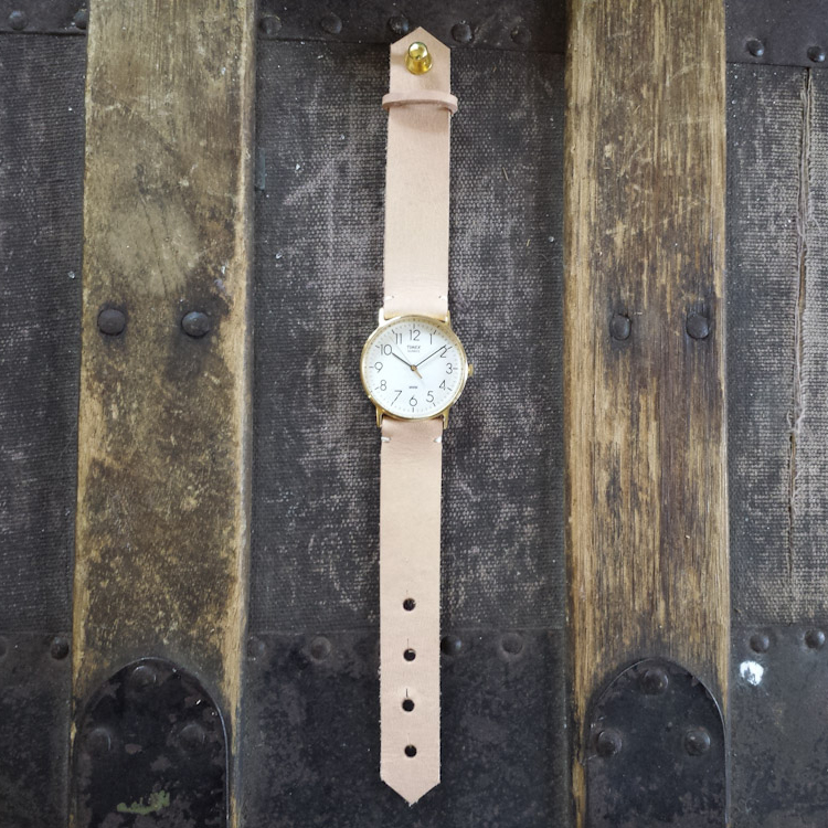 Re Purposed Vintage Watch with Veg. Leather Strap – $70