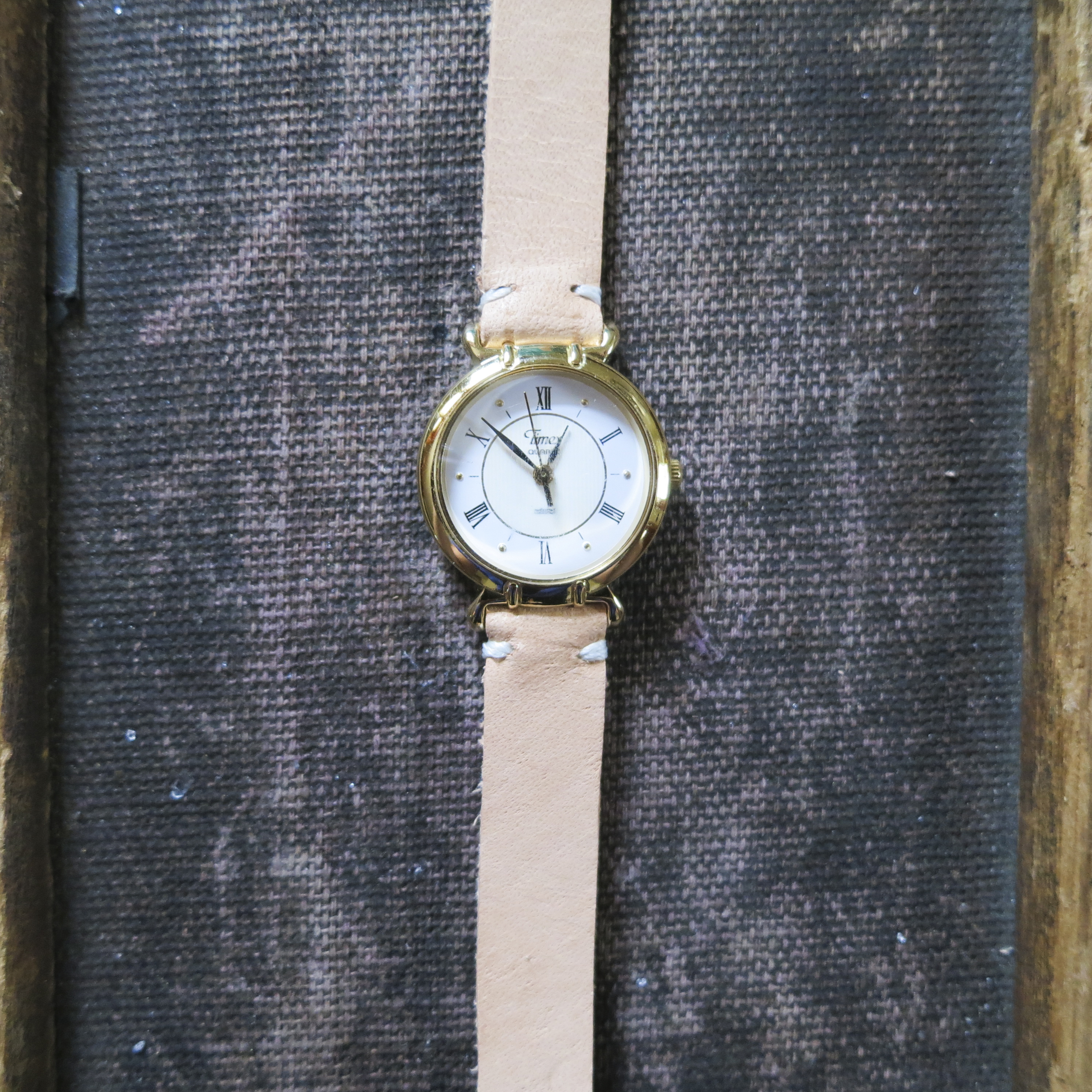 Re Purposed Vintage Wrap Watch with Veg. Leather Strap – $80
