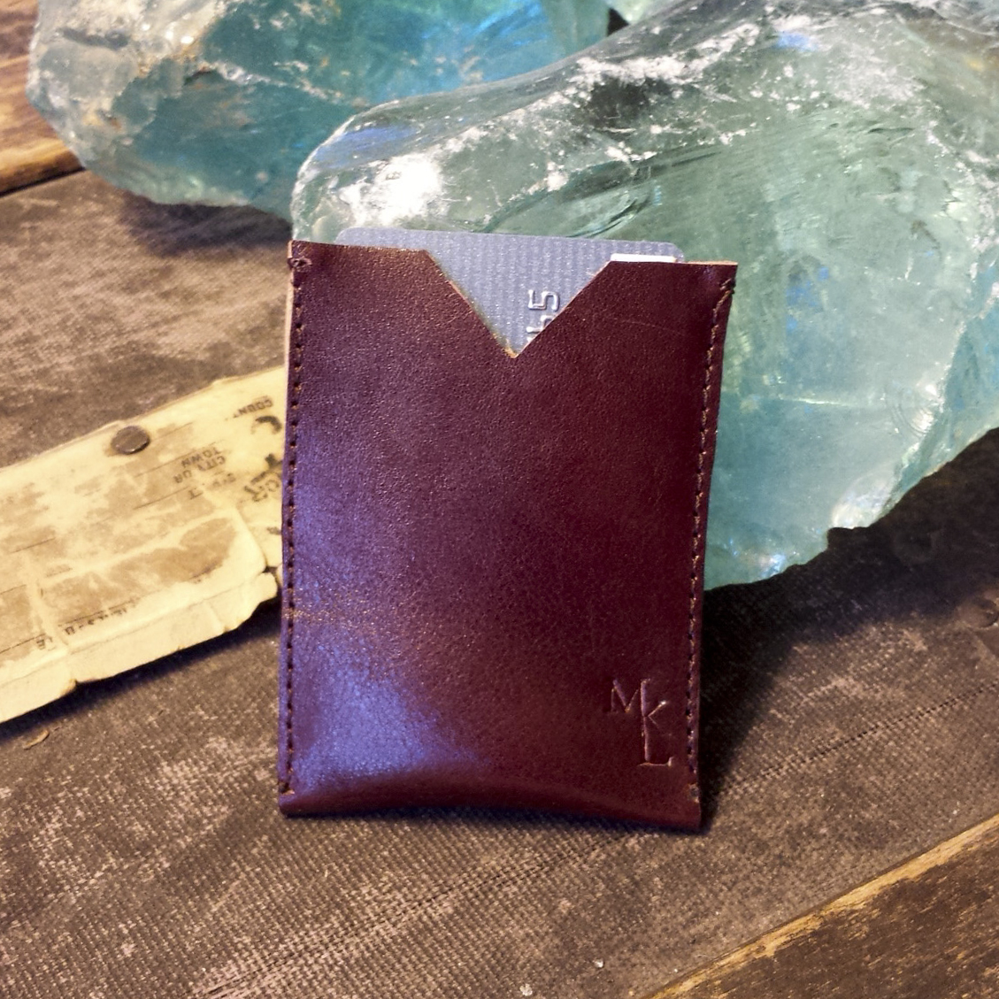 Leather Card Case – Oxblood- $25