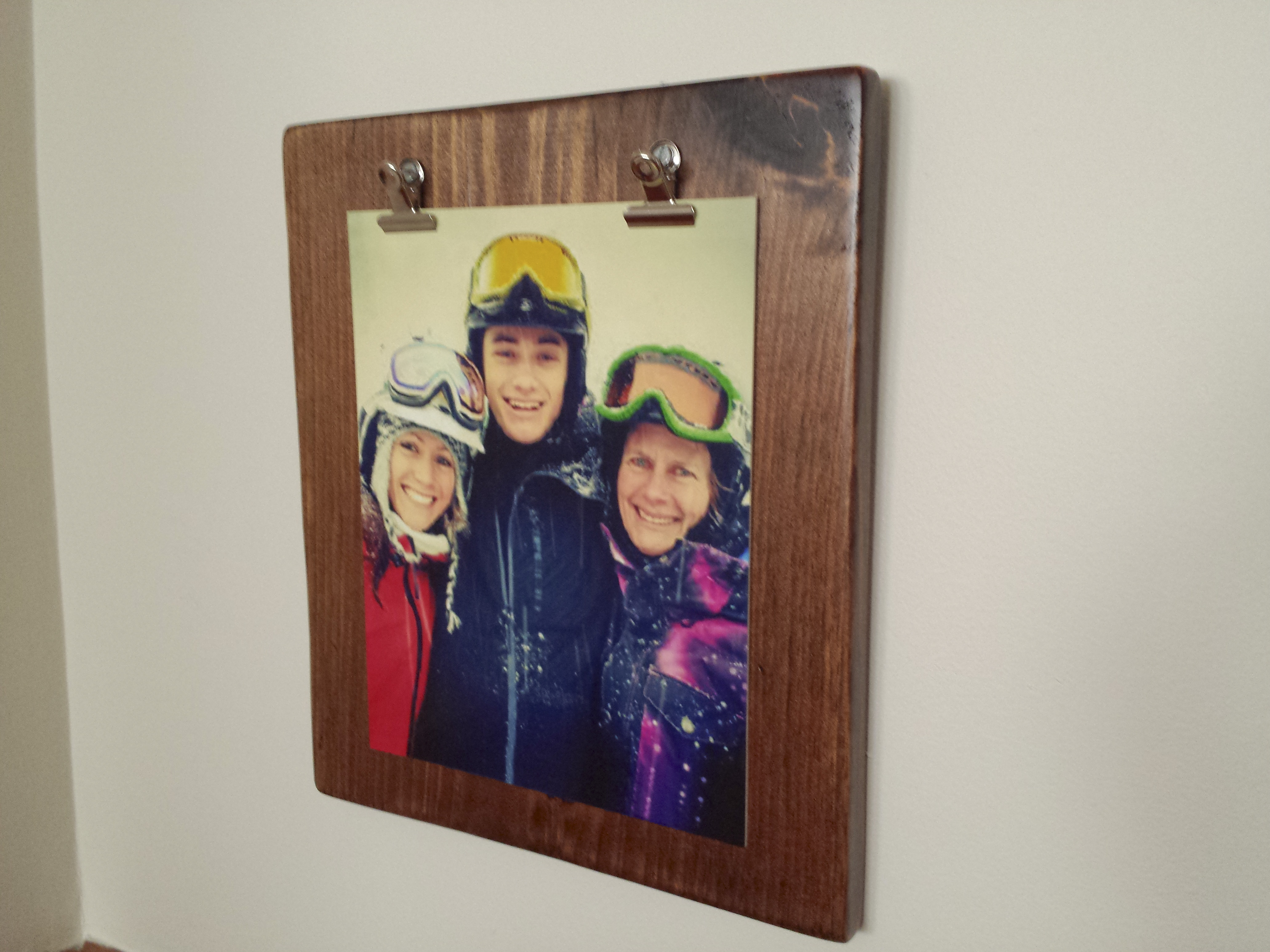 Rustic Photo Board
