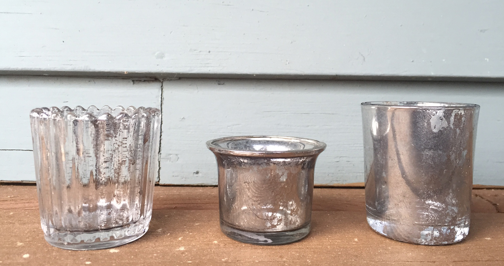 Mercury Glass Votives DIY