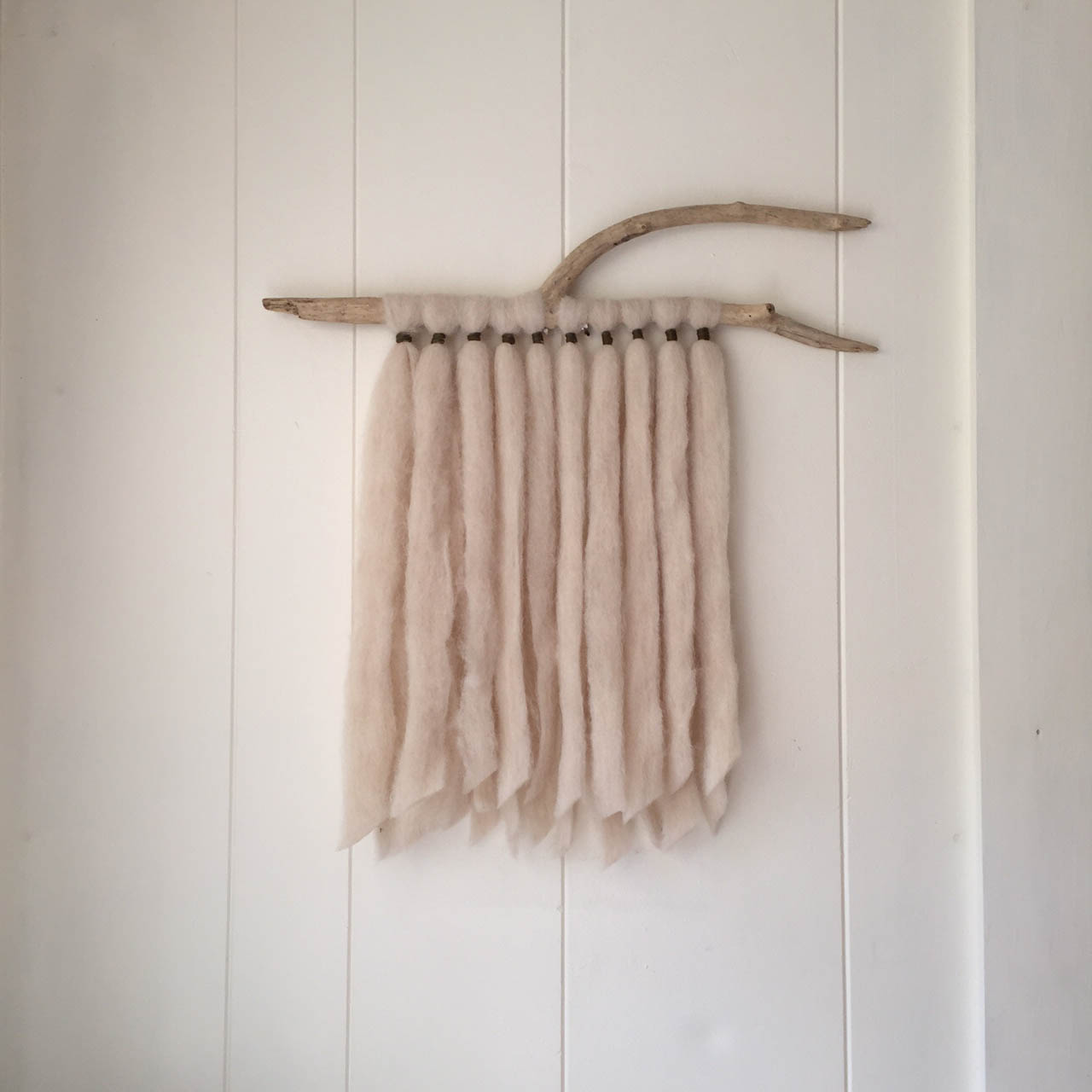 Alpaca and Driftwood Wall Hanging