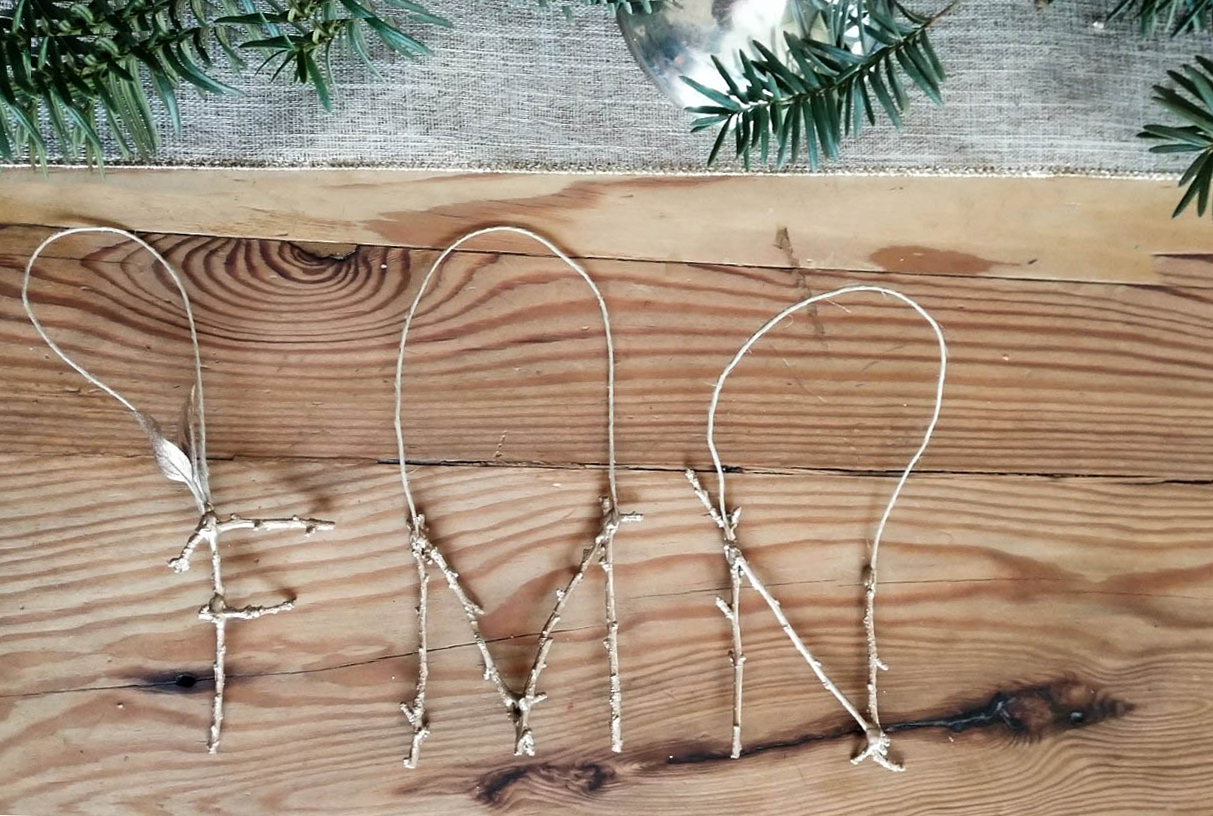 DIY Christmas Twig Ornaments