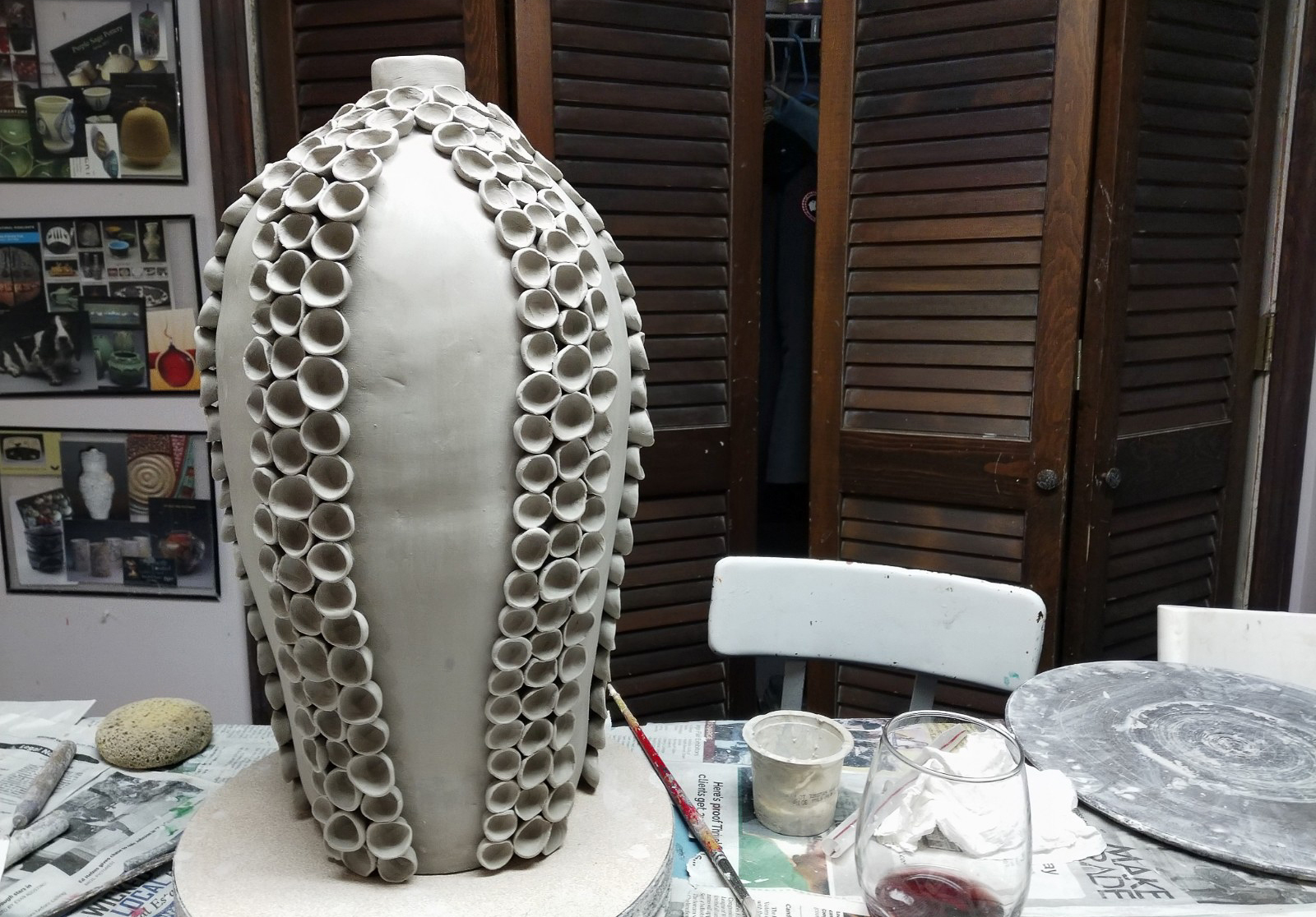 Making A Ceramic Lamp Base